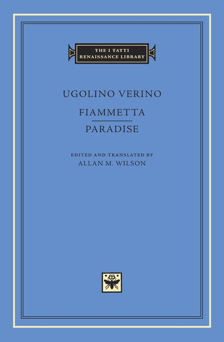Cover: Fiammetta. Paradise, from Harvard University Press