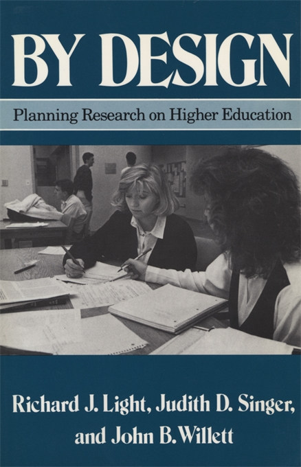 Cover: By Design: Planning Research on Higher Education, from Harvard University Press
