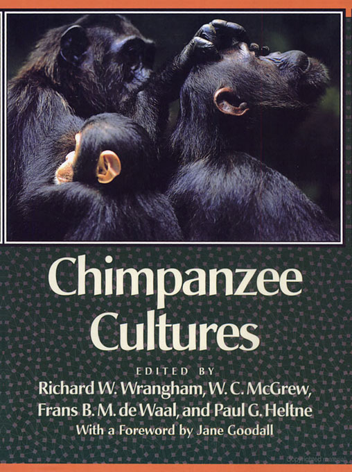 Cover: Chimpanzee Cultures, from Harvard University Press