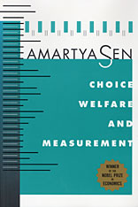 Cover: Choice, Welfare and Measurement in PAPERBACK