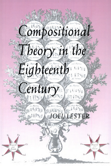 Cover: Compositional Theory in the Eighteenth Century, from Harvard University Press