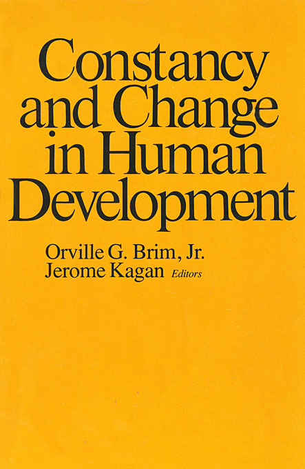 Cover: Constancy and Change in Human Development, from Harvard University Press