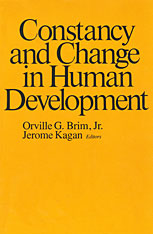 Cover: Constancy and Change in Human Development in HARDCOVER