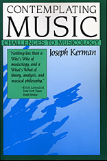 Cover: Contemplating Music: Challenges to Musicology