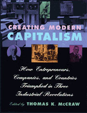 Cover: Creating Modern Capitalism: How Entrepreneurs, Companies, and Countries Triumphed in Three Industrial Revolutions