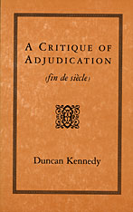 Cover: A Critique of Adjudication: fin de siècle