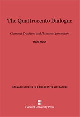 Cover: The Quattrocento Dialogue: Classical Tradition and Humanist Innovation