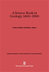 Cover: A Source Book in Geology, 1400–1900