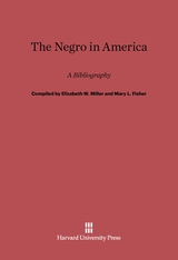 Cover: The Negro in America: A Bibliography, Second Revised and Enlarged Edition