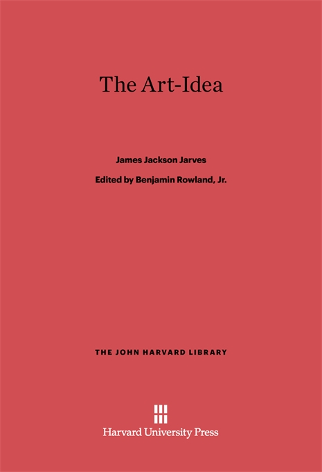 Cover: The Art-Idea, from Harvard University Press