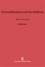 Cover: Personification and the Sublime: Milton to Coleridge