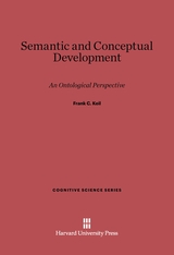 Cover: Semantic and Conceptual Development: An Ontological Perspective