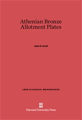 Cover: Athenian Bronze Allotment Plates in E-DITION