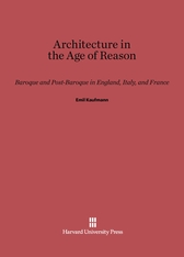 Cover: Architecture in the Age of Reason in E-DITION