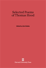 Cover: Selected Poems of Thomas Hood in E-DITION