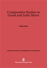 Cover: Comparative Studies in Greek and Indic Meter