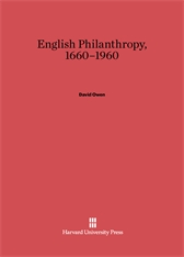Cover: English Philanthropy, 1660-1960