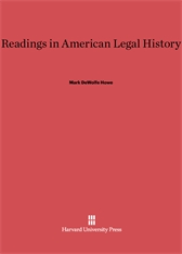 Cover: Readings in American Legal History