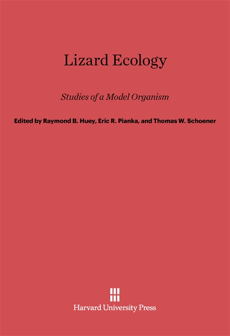 Cover: Lizard Ecology: Studies of a Model Organism, from Harvard University Press