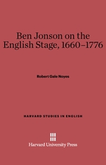 Cover: Ben Jonson on the English Stage, 1660-1776
