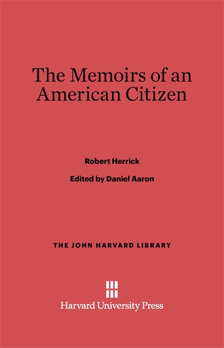 Cover: The Memoirs of an American Citizen, from Harvard University Press