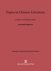 Cover: Topics in Chinese Literature: Outlines and Bibliographies, Revised edition