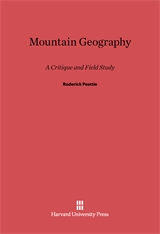 Cover: Mountain Geography: A Critique and Field Study
