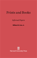 Cover: Prints and Books: Informal Papers
