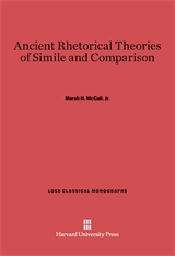 Cover: Ancient Rhetorical Theories of Simile and Comparison