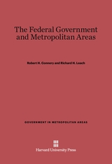 Cover: The Federal Government and Metropolitan Areas