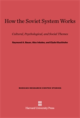 Cover: How the Soviet System Works: Cultural, Psychological, and Social Themes