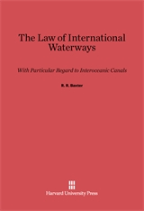 Cover: The Law of International Waterways: With Particular Regard to Interoceanic Canals