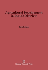 Cover: Agricultural Development in India's Districts