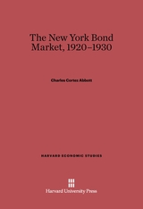 Cover: The New York Bond Market, 1920-1930
