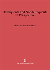 Cover: Delinquents and Nondelinquents in Perspective