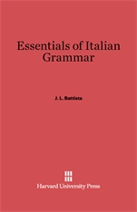Cover: Essentials of Italian Grammar