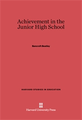Cover: Achievement in the Junior High School