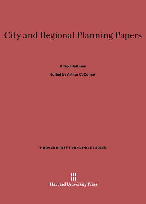 Cover: City and Regional Planning Papers, from Harvard University Press