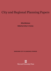 Cover: City and Regional Planning Papers