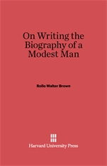Cover: On Writing the Biography of a Modest Man in E-DITION