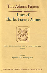 Cover: Diary of Charles Francis Adams, Volumes 3 and 4: September 1829 – December 1832