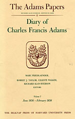 Cover: Diary of Charles Francis Adams, Volumes 7 and 8: June 1836 - February 1840