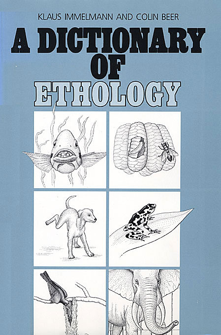 Cover: A Dictionary of Ethology, from Harvard University Press
