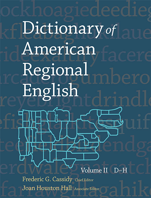 Cover: Dictionary of American Regional English, Volume II: D-H, from Harvard University Press