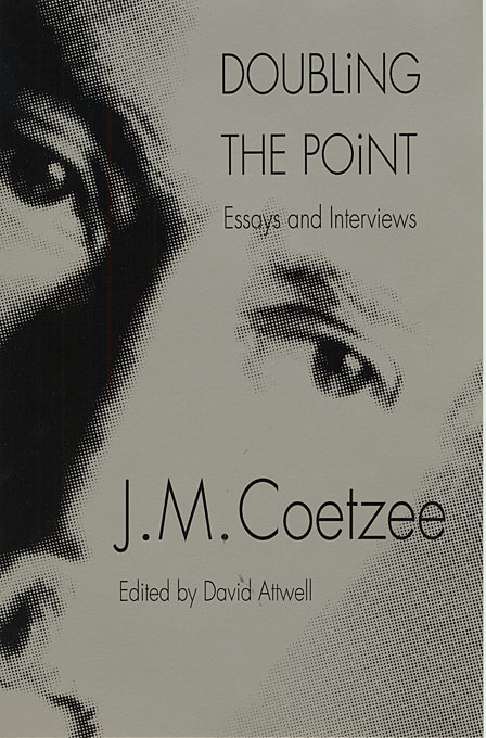 Cover: Doubling the Point: Essays and Interviews, from Harvard University Press