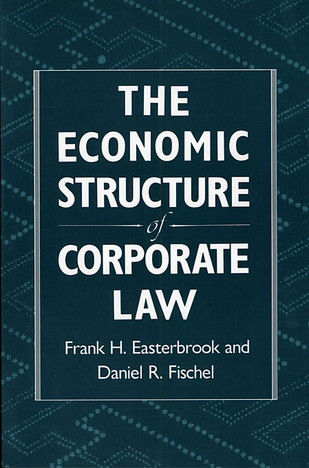 Cover: The Economic Structure of Corporate Law, from Harvard University Press
