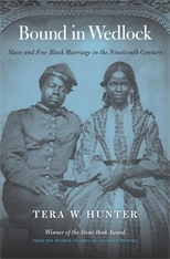 Cover: Bound in Wedlock: Slave and Free Black Marriage in the Nineteenth Century, by Tera W. Hunter, from Harvard University Press