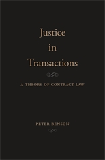 Cover: Justice in Transactions: A Theory of Contract Law