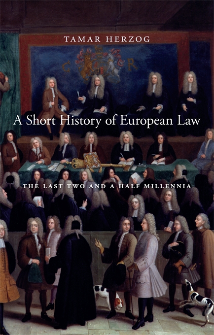 Cover: A Short History of European Law: The Last Two and a Half Millennia, from Harvard University Press