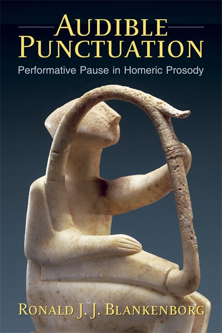 Cover: Audible Punctuation: Performative Pause in Homeric Prosody, from Harvard University Press